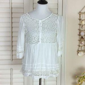 JS Millenium Soft Feminine Top White